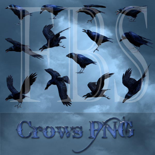 Crows PNG tubes
