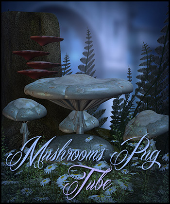 Mushrooms PNG tubes