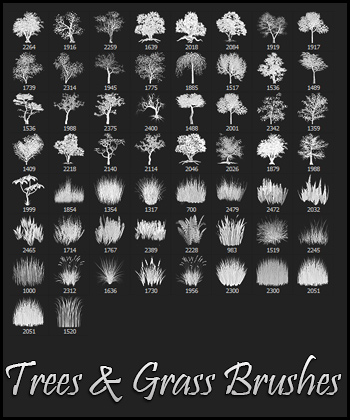 Trees and Grass Brushes