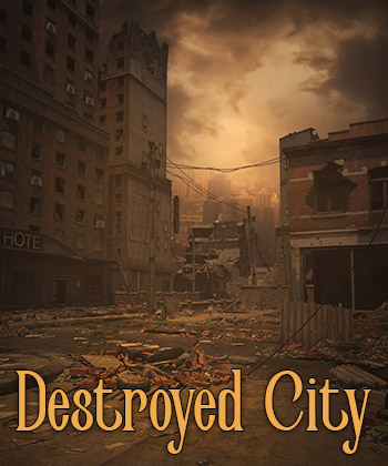 Destroyed City Png
