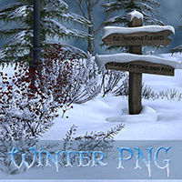 Winter PNG Scenes