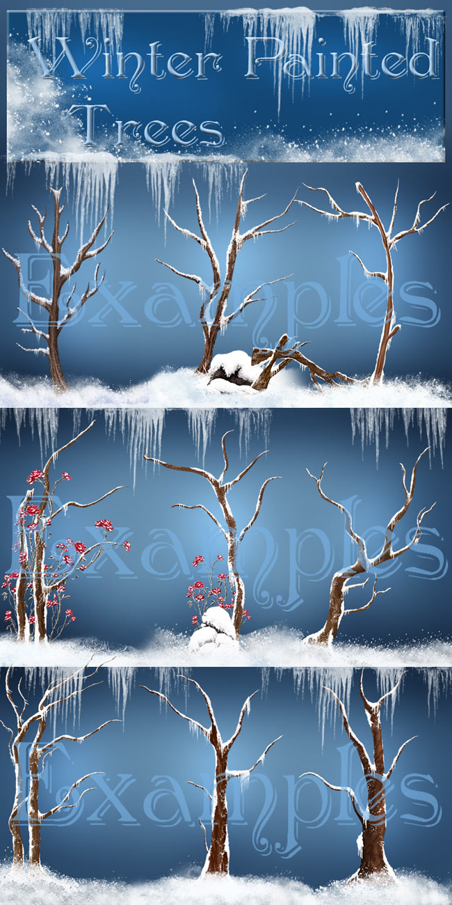 Painted Winter Trees